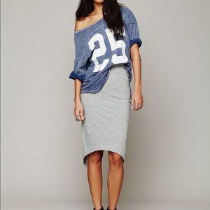 Free People x Funktional Sweatshirt Pencil Skirt